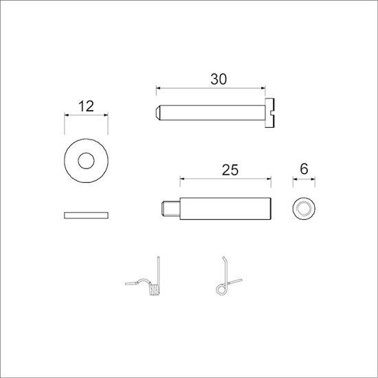 Ami Briefplaat Montagesetje deurdikte 38-45 mm