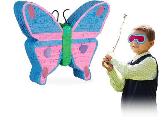 relaxdays Pinata vlinder - piñata - bont - kinderfeestje - om op te hangen