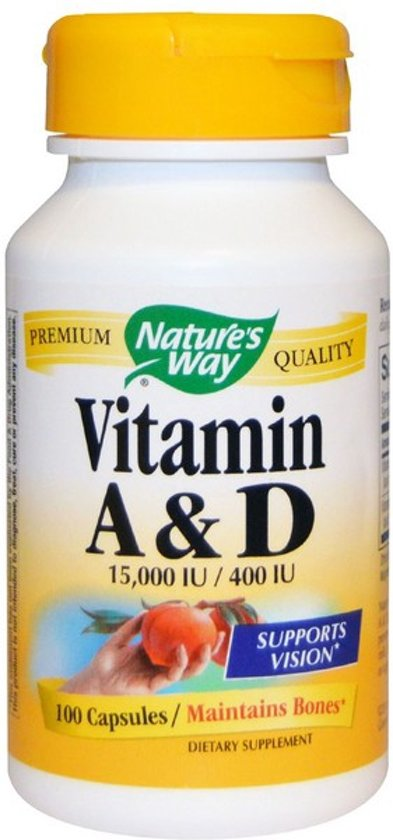 Vitamine A en D, 15.000 IU/400 IU (100 Capsules) - Nature's Way