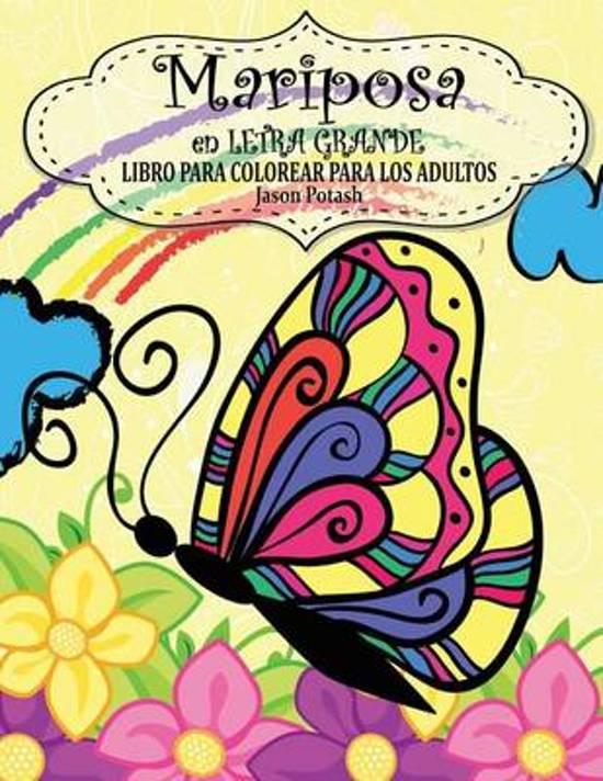 bol.com | Mariposa En Letra Grande Libro Para Colorear Para Los ...