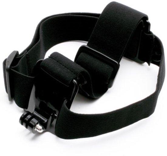 Shop4 - GoPro HERO6 Hoofdband - Elastisch Zwart