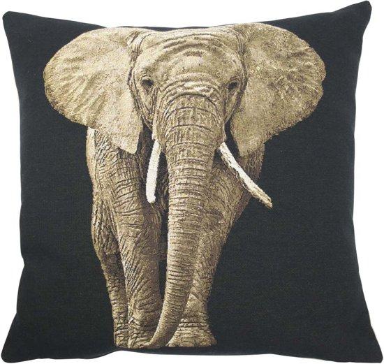 mars more gobelin kussen olifant 45x45cm. Black Bedroom Furniture Sets. Home Design Ideas
