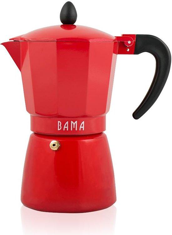 Bama Espresso Maker Barista 6 Kops - Rood