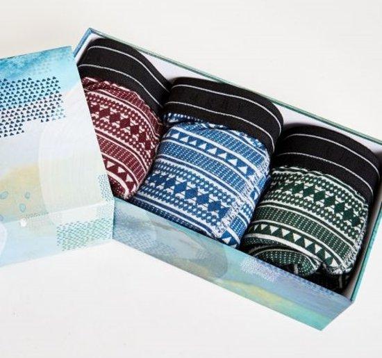 Giftbox met 3 bamboe boxershorts - Bjorn - maat XXL