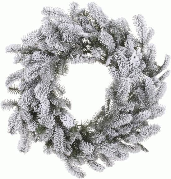 everlands nordmann snowy kerstkrans 60 cm zonder verlichting