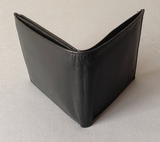 b94f0c1bde1 bol.com | Leren heren portemonnee, zwart - Gio Gini