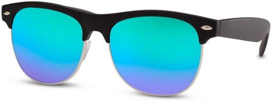 18436d26df4616 Cheapass Zonnebrillen - Clubmaster zonnebril - Goedkope zonnebril - Groene  spiegelglazen