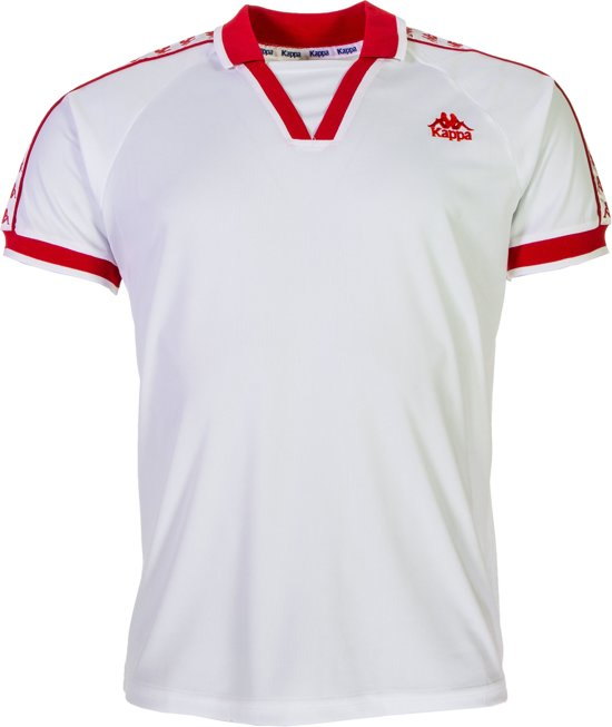 Sportshirt Mannen Wit Kappa Authentic PerformanceMaat S Polo Belgrade rood QBWxodCreE