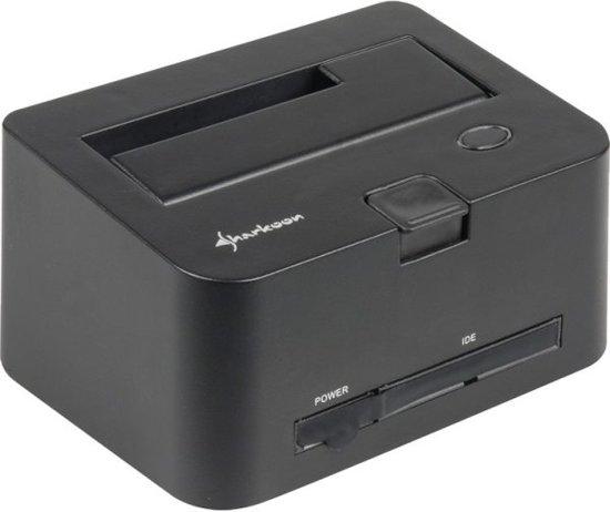 Sharkoon QuickPort Combo USB3.0 Zwart