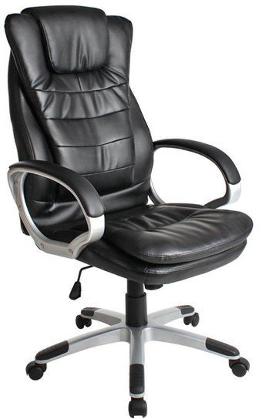 Extra Brede Bureaustoel.Bol Com Tectake Luxe Design Bureaustoel Zwart