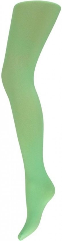Fluor groene dames panty 60 denier S/m