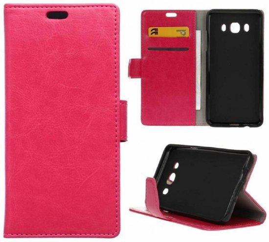 GSMWise - Samsung Galaxy J7 (2016) PU Lederen Portemonnee Hoesje met Kaarthouder - Magenta Hot Pink in Moerslag