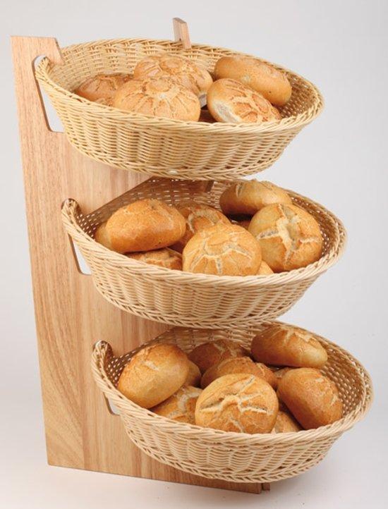 Houten buffetstandaard t.b.v. 3 manden - 59x30 -5x59 cm