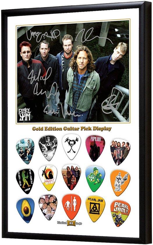 Bolcom Plectrumdisplay Pearl Jam Ingelijst
