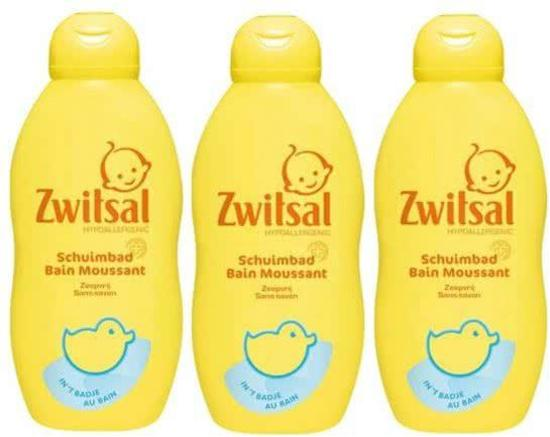3 stuks - Zwitsal - Schuimbad 400 ml