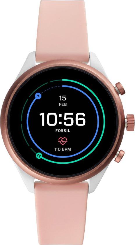 Fossil Sport Gen 4S - FTW 6022 - Dames Smartwatch - Roze