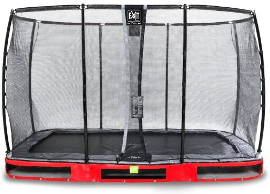 """EXIT Elegant Inground Trampoline 244 x 427 cm met Deluxe Veiligheidsnet """