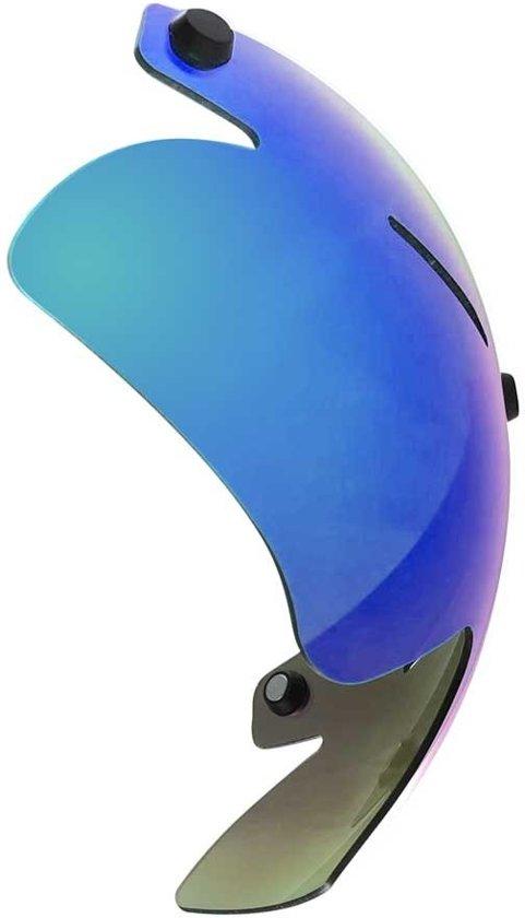 A2 vizier voor Alpha-2 Aero helm   Schaatshelm (donkere lens met blauw/groene coating)