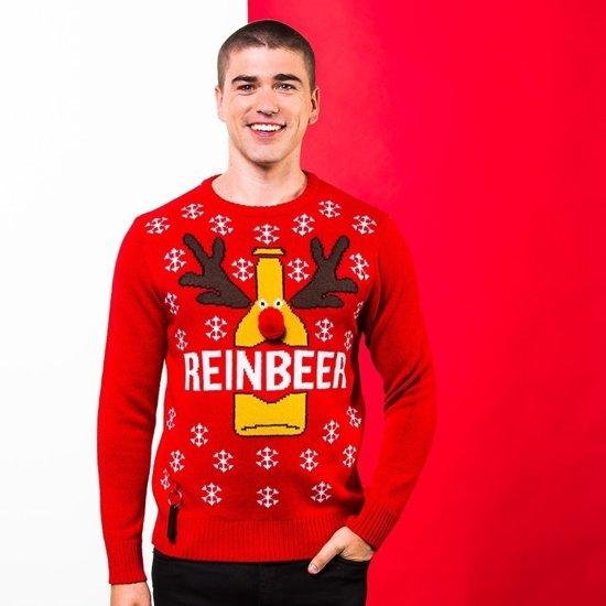Rode Kersttrui Heren.Rode Kerst Trui Reinbeer Voor Heren Xl 44 54