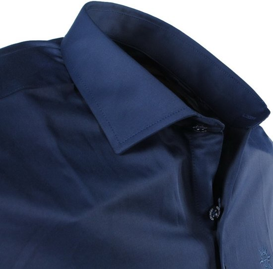 Overhemd Steel Heren Slimfit Stretch Napoli Ferlucci Blue UH5wqvn