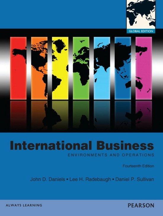 daniels radebaugh sullivan chapter 3 View test prep - daniels--international business 13e (1) from soc sci 183 at uc irvine international business, 13e (daniels/radebaugh/sullivan) chapter 1 globalization and.