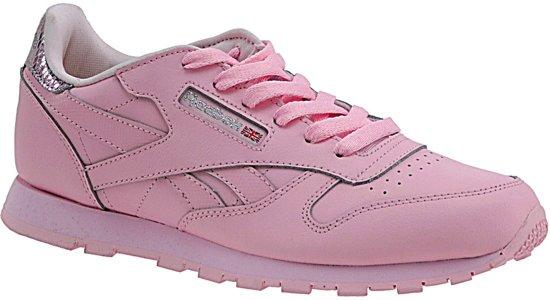 9f384ca8445 Reebok Classic Leather Metallic BD5898, Vrouwen, Roze, Sportschoenen maat:  34.5 EU