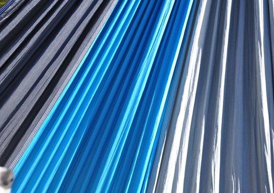 MoreThanHip Hangmat - Grijs/Blauw - Parachutestof
