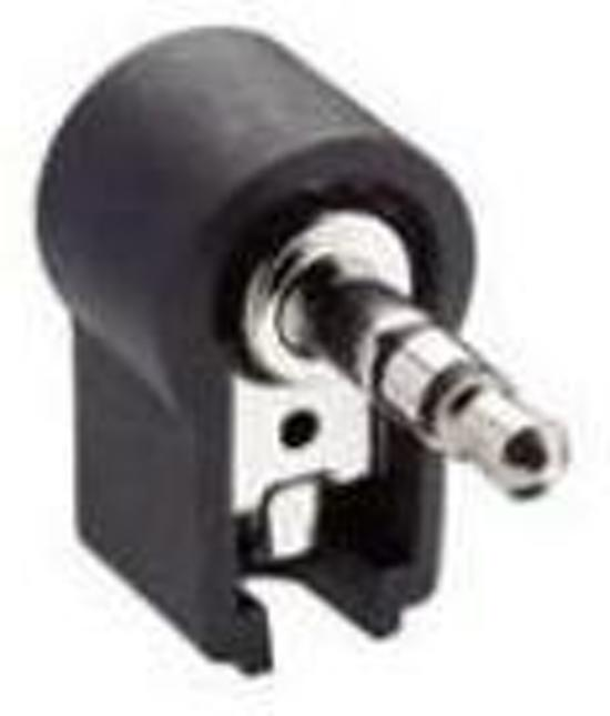 Intronics Haakse kunststof 3.5 mm jack connector male