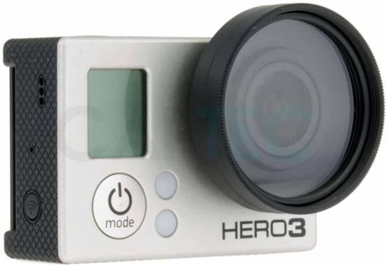 Captec FilterUV, GoPro Hero 3 - 4 UV filter met lensdop, 37mm past op Hero 3 Hero 3+ en Hero 4.