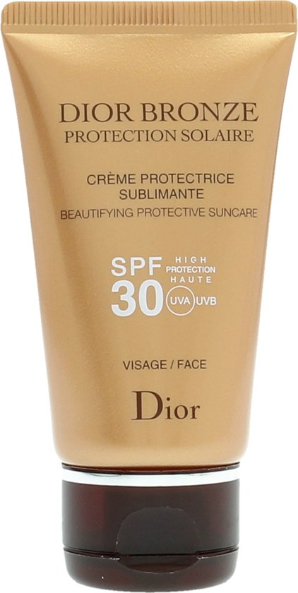 dior bronze creme solaire spf 30 visage 50 ml zonnebrandcreme. Black Bedroom Furniture Sets. Home Design Ideas
