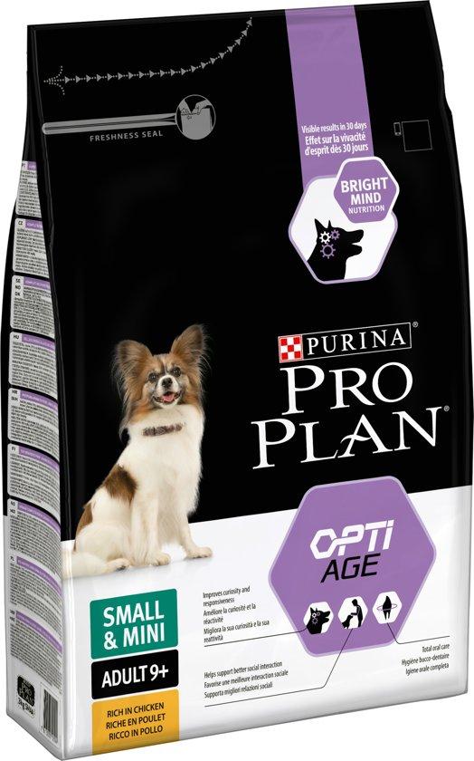 Pro Plan Small&Mini ADULT 9+ - Kip met OPTIAGE - hondenvoer - 3 kg