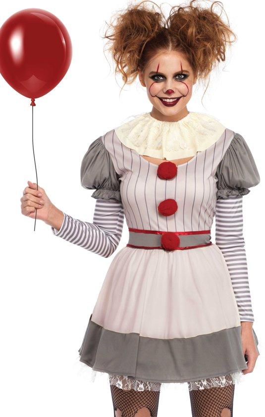 Enge Kostuums Halloween.Monster Griezel Kostuum Enge Halloween Clown Horror Circus Vrouw Medium Large Halloween Verkleedkleding