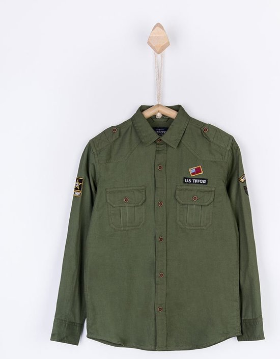 Overhemd Mintgroen.Bol Com Tiffosi Jongens Blouse Overhemd Marlon Kleur Groen Maat 152