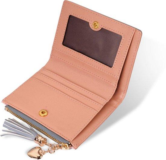 f1aab0fd959 ... ZILOU Compacte Portemonnee - Mini Wallet - Portefeuille - Dames -  Kunstleer - Roze - ZILOU ...