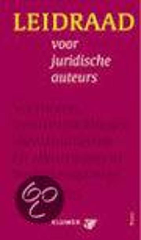 Boek cover Leidraad voor juridische auteurs van Anne De Hingh (Paperback)
