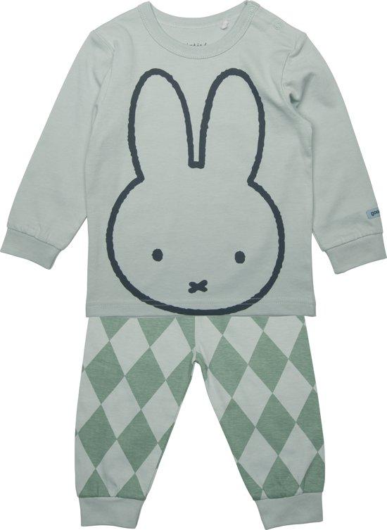 Nijntje, jongens, pyjama groen - maat 62/68