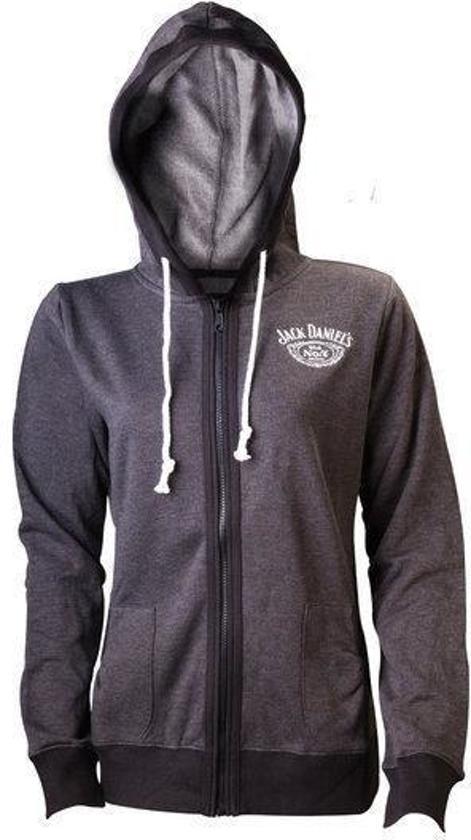 Jack Daniel's Dames Hoodie Grijs met Old Nr. 7 Logo Maat XL