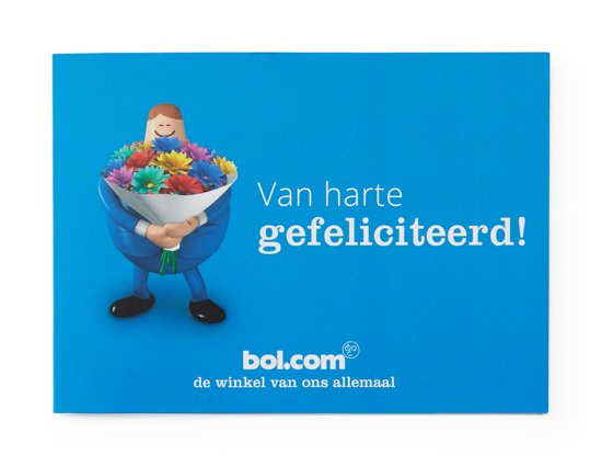 bol.com cadeaukaart - 50 euro - Gefeliciteerd