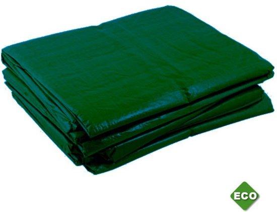 TOP dekzeil, polyethyleen (PE), groen, (lxb) 6x4m, bevestigingsogen