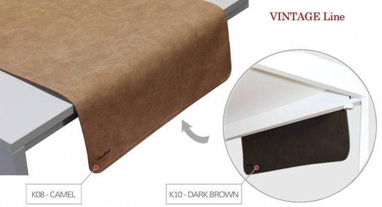 tafelloper Vintage Camel/Dark Brown 45120 KOS 8/10