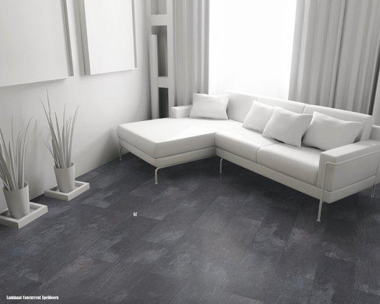Laminaat Tegel Look : Bol.com visio grande wellness tegel laminaat slate grey grijs