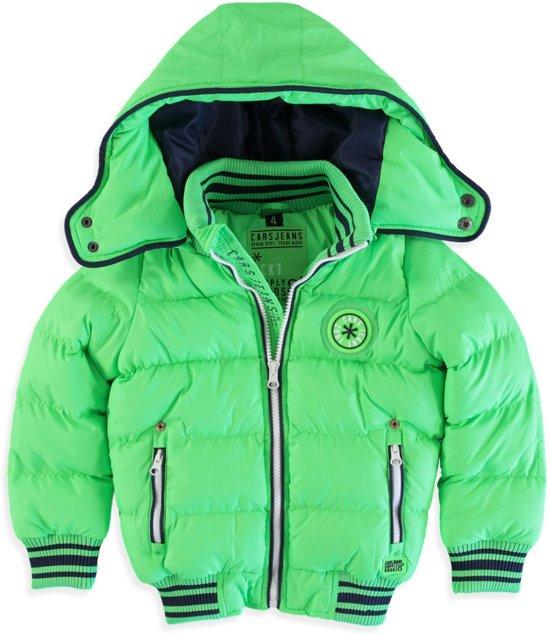 Cars jeans Jongens Winterjas Blizzard- Neon Green - Maat 140