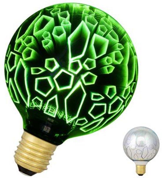 Bailey LED Magic 3D G95 E27 240V 4.5W Scherven Groen 40lm