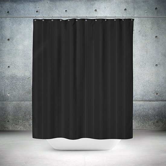 Roomture - douchegordijn - Classical black - 240 x 200 - extra breed
