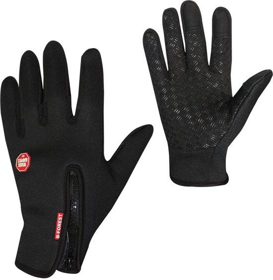Touchscreen Sport Handschoenen - Zwart - XL - Winter - Fietsen - Hardlopen - Antislip - Waterafstotend - Winddicht - Thermo - Windafstotend