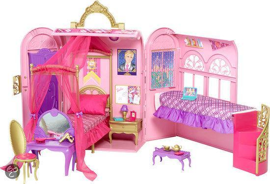 barbie prinses slaapkamer speelset