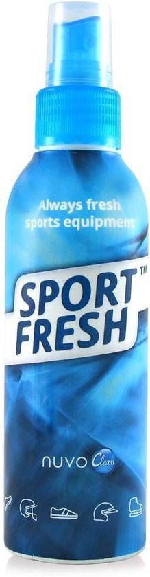 Nuvo Sport Fresh Spray - helpt tegen stinkende sportartikelen, zoals sportschoenen, scheenbeschermers, handschoenen, skischoenen, helmen en de sporttas - 100 % biologisch. 150ml.