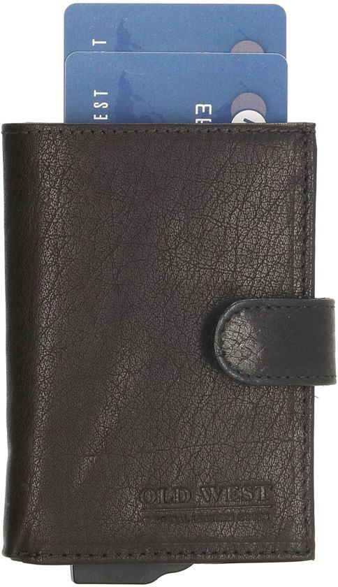 cff467b1ba4 Old West - Leer - Cardprotector-Creditcardhouder-pasjeshouder- Zwart - RFID  - 11