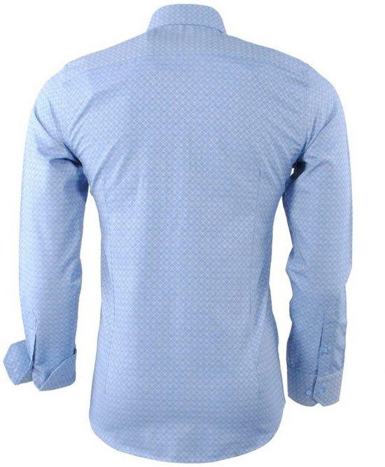 Slim Fit Overhemd Geruit Heren Blauw Montazinni tHqIwOH