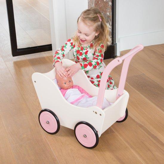 New Classic Toys - Babypoppenwagen met Beddengoed - Rood